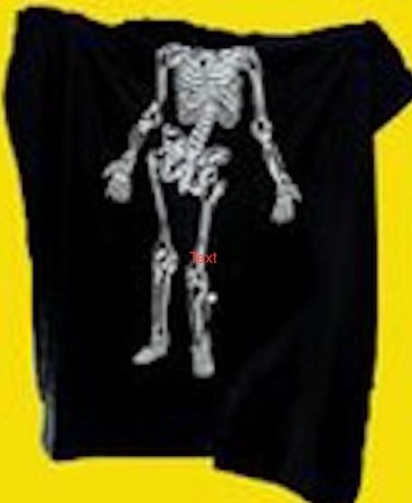 Skeleton Zombie Cloth