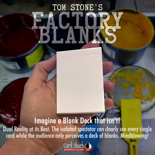 Factory Blanks – by Tom Stone