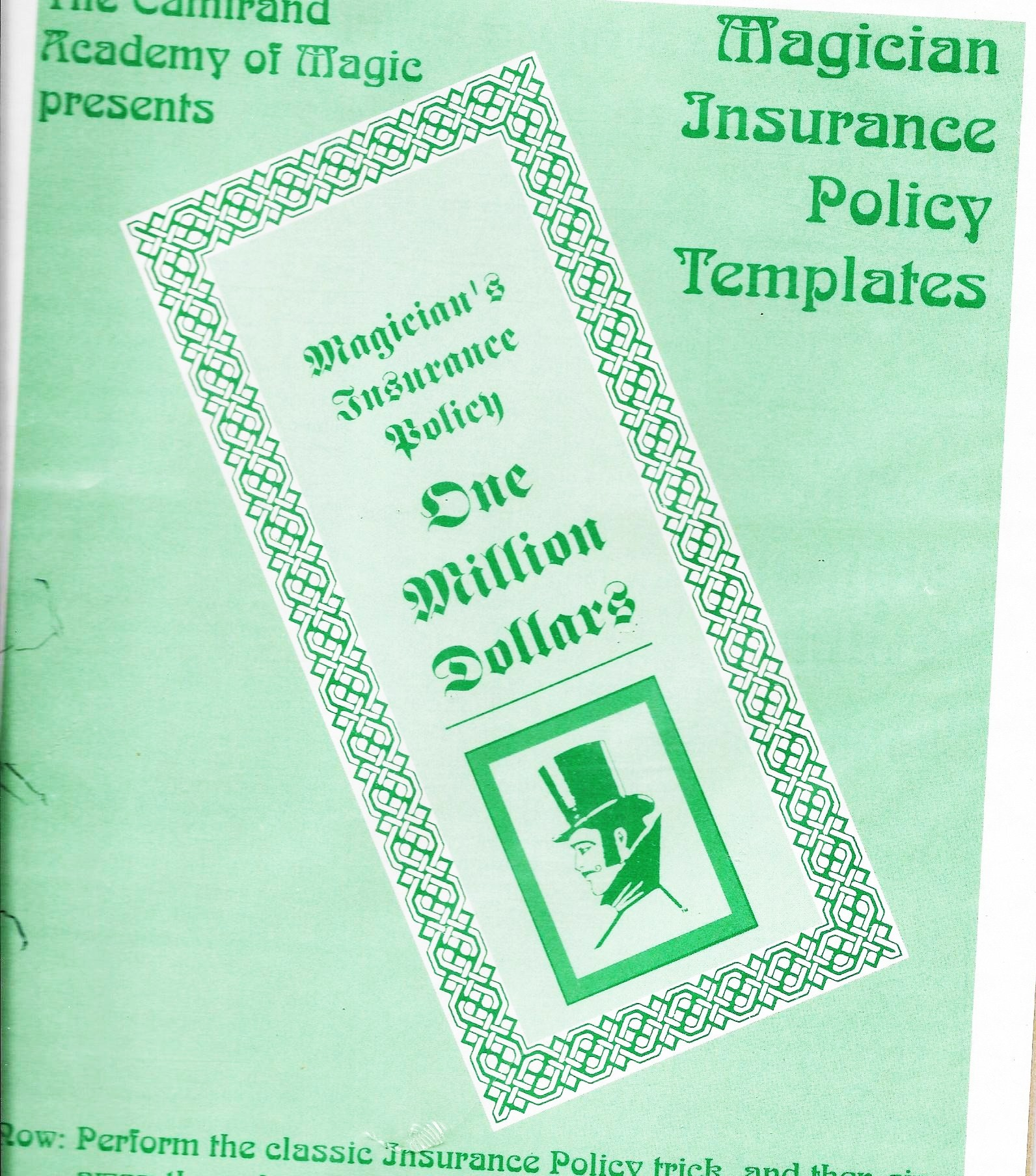 magicians insurance policy template