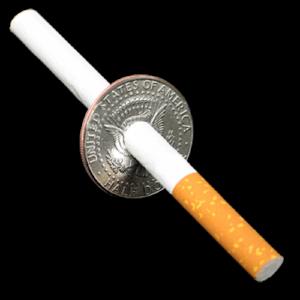 Cigarette Thru Half